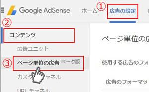 GoogleAdSense「ページ単位の広告」設置方法 1